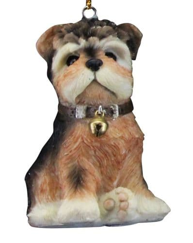 Resin Puppy Decoration - Yorkie